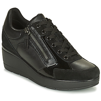 Shoes Women Low top trainers Geox ILDE Black