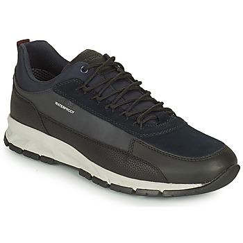 Shoes Men Low top trainers Geox DELRAY WPF Marine / Black