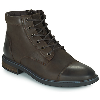 Shoes Men Mid boots Geox VIGGIANO Brown