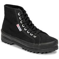 Shoes Women High top trainers Superga 2341 ALPINA COTU Black
