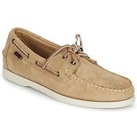 Shoes Men Boat shoes Sebago PORTLAND FLESH OUT Beige