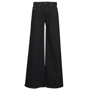 material Women bootcut jeans Diesel D-AKEMI Black
