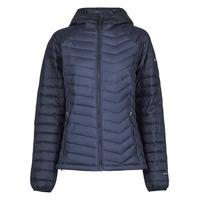 material Women Duffel coats Columbia POWDER LITE HOODED JACKET Marine / Black
