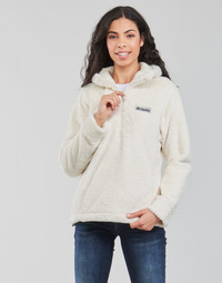material Women Fleeces Columbia BUNDLE UP HOODED PULLOVER White