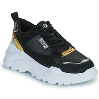 Shoes Women Low top trainers Versace Jeans Couture FREMMI Black / Gold / Silver