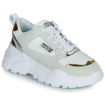 Shoes Women Low top trainers Versace Jeans Couture FREMMI White / Gold / Silver