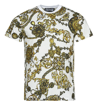 material Men short-sleeved t-shirts Versace Jeans Couture PRINT BIJOUX BAROQUE White / Printed / Baroque