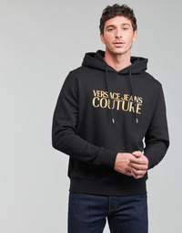 material Men sweaters Versace Jeans Couture LOGO EMBRO Black / Gold