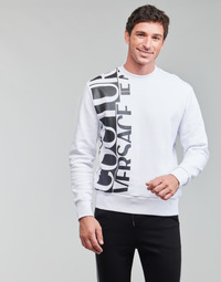 material Men sweaters Versace Jeans Couture LOGO STORY White / Black