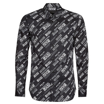 material Men long-sleeved shirts Versace Jeans Couture SLIM PRINT WARRANTY Black / White