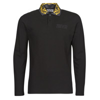 material Men long-sleeved polo shirts Versace Jeans Couture BAROQUE POLO T.SHIRT Black