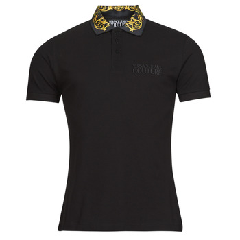 material Men short-sleeved polo shirts Versace Jeans Couture BAROQUE POLO T.SHIRT SS Black