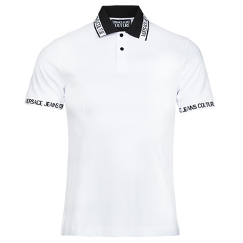 material Men short-sleeved polo shirts Versace Jeans Couture JACQUARD POLO T.SHIRT White