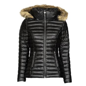 material Women Duffel coats Les Petites Bombes ALIMA Black