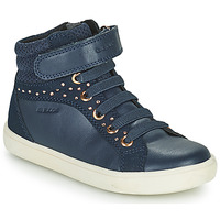 Shoes Girl High top trainers Geox KATHE Blue