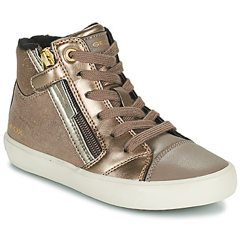 Shoes Girl High top trainers Geox GISLI Gold