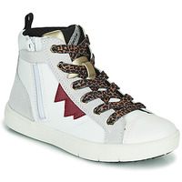 Shoes Girl High top trainers Geox SILENEX White