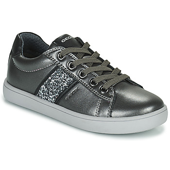 Shoes Girl Low top trainers Geox KATHE Silver