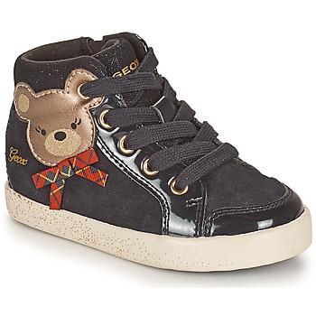 Shoes Girl High top trainers Geox KILWI Black