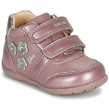 Shoes Girl Low top trainers Geox ELTHAN Pink