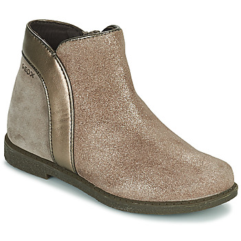 Shoes Girl Mid boots Geox SHAWNTEL Gold