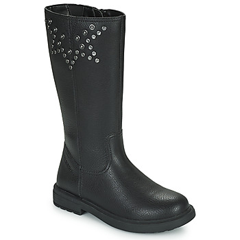 Shoes Girl Boots Geox ECLAIR Black