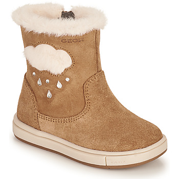 Shoes Girl Boots Geox TROTTOLA Brown
