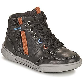 Shoes Boy High top trainers Geox POSEIDO Brown