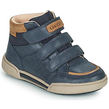 Shoes Boy High top trainers Geox POSEIDO Marine