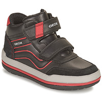 Shoes Boy High top trainers Geox CHARZ Black / Red