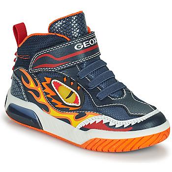 Shoes Boy High top trainers Geox INEK Marine / Red