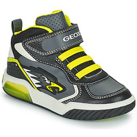 Shoes Boy High top trainers Geox INEK Grey / Green
