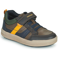 Shoes Boy Low top trainers Geox ARZACH Brown