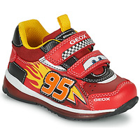 Shoes Boy Low top trainers Geox TODO Red / Yellow