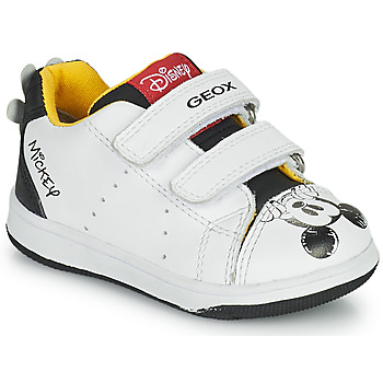 Shoes Boy Low top trainers Geox NEW FLICK White / Black / Red