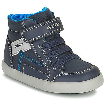 Shoes Boy High top trainers Geox GISLI Marine
