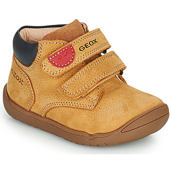 Shoes Boy Mid boots Geox MACCHIA Brown