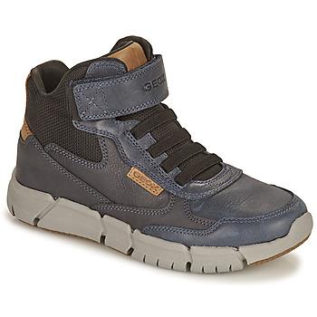 Shoes Boy Mid boots Geox FLEXYPER Marine / Camel