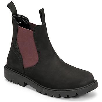 Shoes Boy Mid boots Geox SHAYLAX Black / Bordeaux