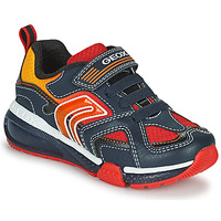 Shoes Boy Low top trainers Geox BAYONYC Marine / Orange