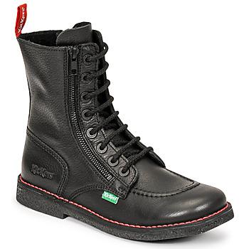 Shoes Women Boots Kickers MEETICKZIP Black / Matt