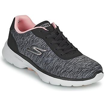 Shoes Women Low top trainers Skechers GO WALK 6 Grey / Pink
