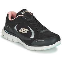 Shoes Women Low top trainers Skechers FLEX APPEAL 4.0 Black / Pink