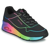 Shoes Women Low top trainers Skechers UNO Black / Multicolour