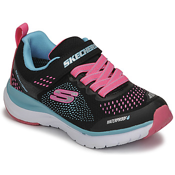 Shoes Girl Low top trainers Skechers ULTRA GROOVE Black / Pink / Blue