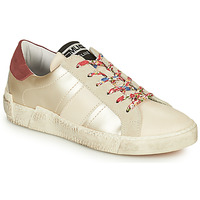 Shoes Women Low top trainers Meline  White / Flowers