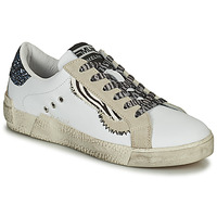 Shoes Women Low top trainers Meline  White / Glitter / Blue