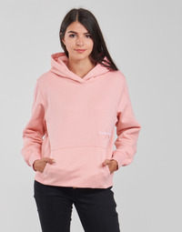 material Women sweaters Calvin Klein Jeans OFF PLACED MONOGRAM HOODIE Pink