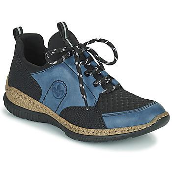 Shoes Women Low top trainers Rieker MEDONNA Blue / Black