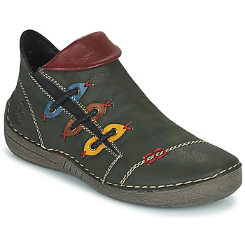 Shoes Women Mid boots Rieker GIMMA Green / Red / Yellow